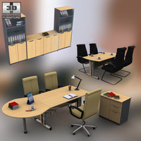 office set 11 3d lwo