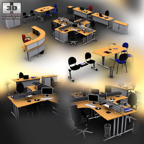 office set 3d max