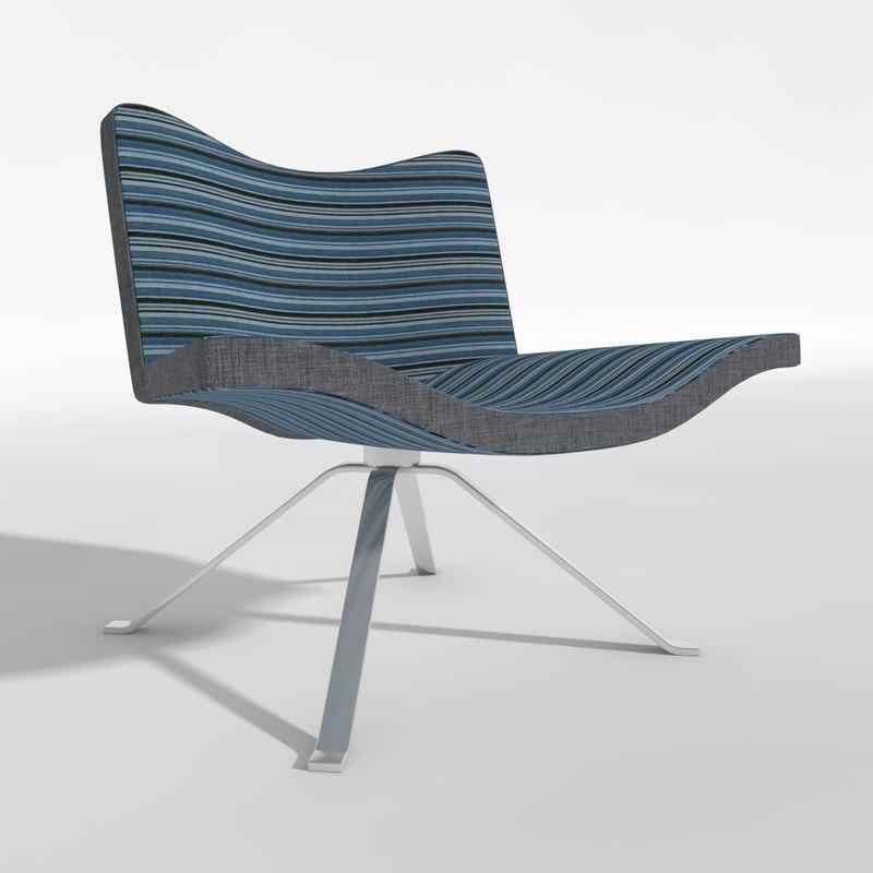3d model chair hero