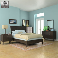 3d model bedroom set 3 bed
