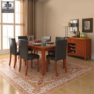 3d model dining room 1 set