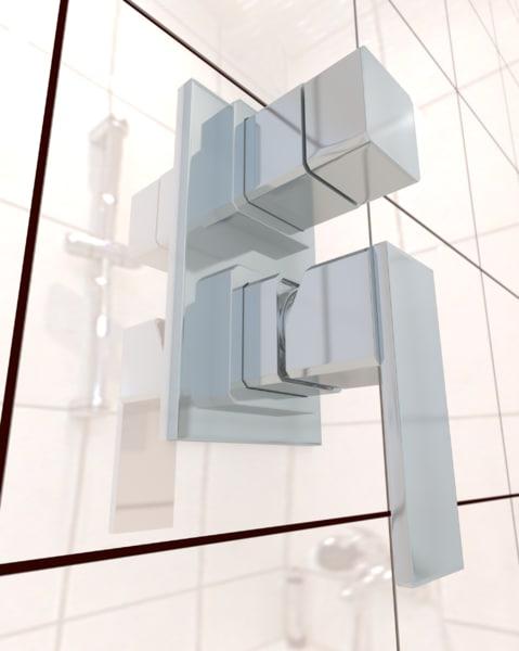 3d model shower faucet tap