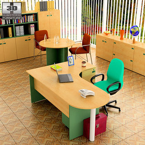 3d office set 18 model