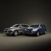 Audi Q7 Mercedes GL two SUV set