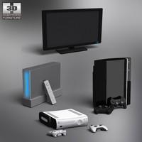 console set 3d model