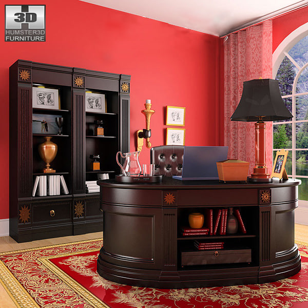 3d office set 19 cabinet