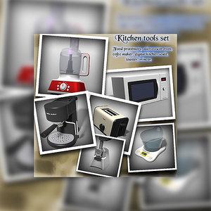 3dsmax kitchen tools set