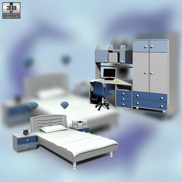 3d nursery room 02 set model