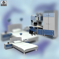 3d nursery room 02 set model