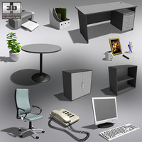 office set 20 3d model
