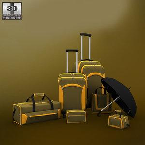 bag set accessory 3d model