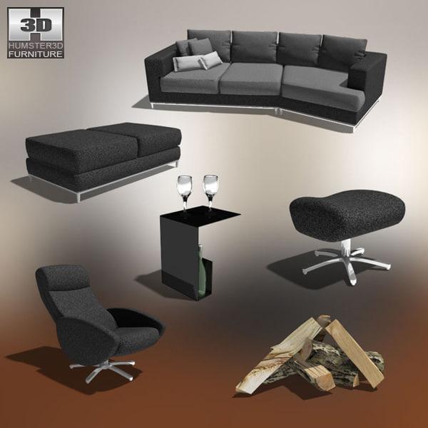 poser living room 03 set