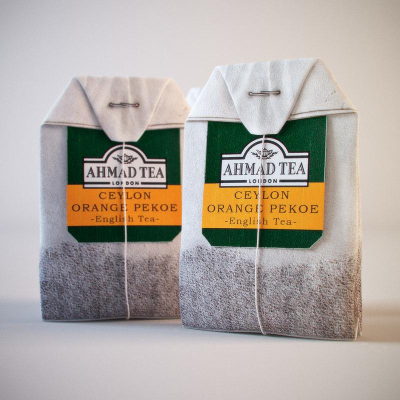 ahmad tea bag orange 3d model