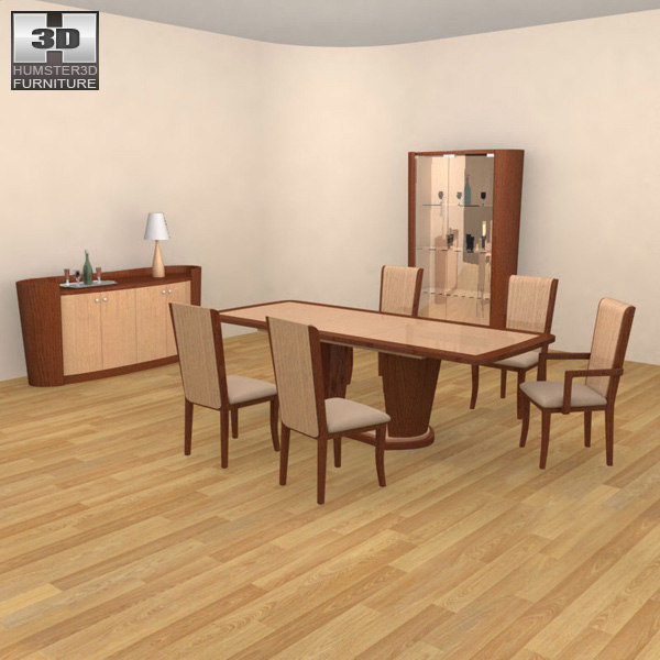 3ds max dining room 2 set