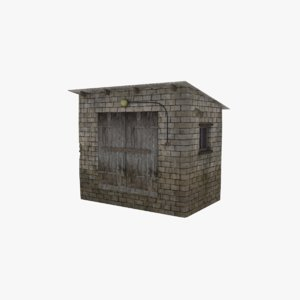 3d model rural utility building games