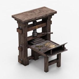 engraving table 3d model