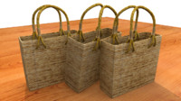 natural fiber bag obj