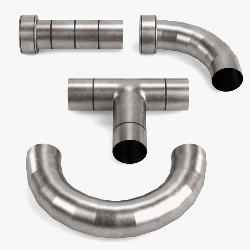3d model industrial pipes