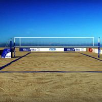 Beach volleyball court low poly