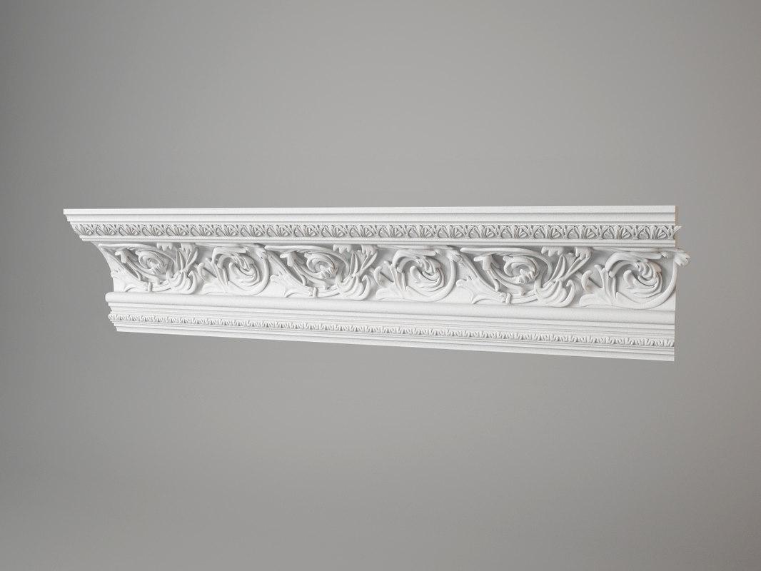 459 carved cornice torus dxf