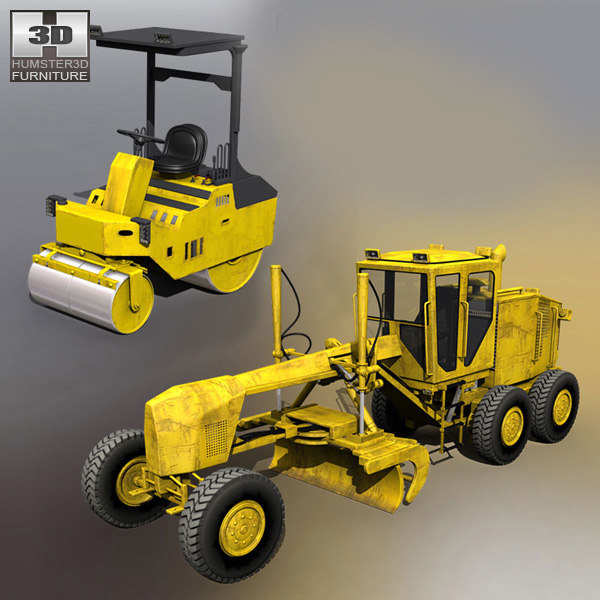 3d max building machines set