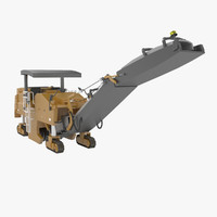3d model pavement milling machine