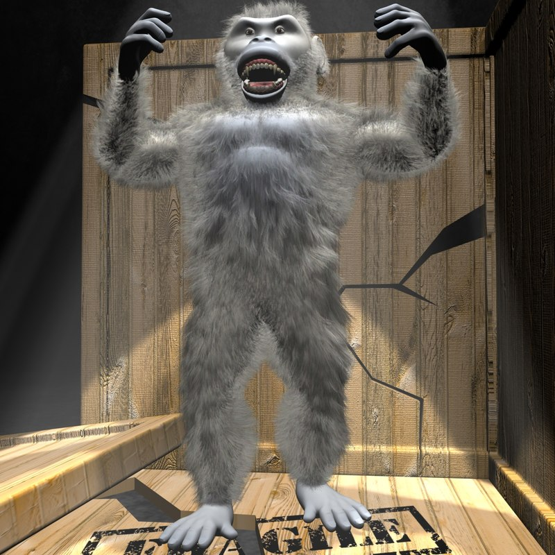 3d yeti character rigged