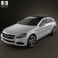 mercedes-benz shooting break 3d max