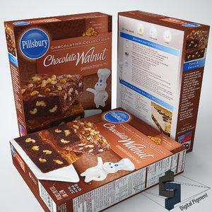chocolate walnut brownie mix 3d max