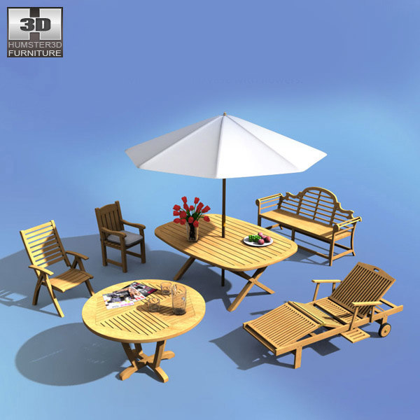 3d garden set