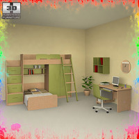 nursery room 04 set 3d 3ds