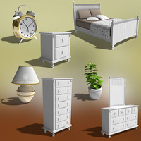 bedroom furniture 06 set 3d 3ds