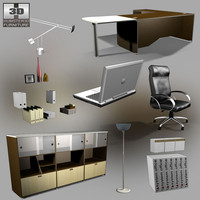 office set 23 3d model