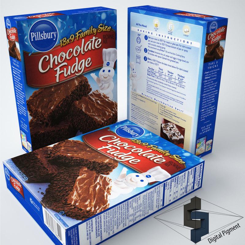 chocolate fudge 3d model