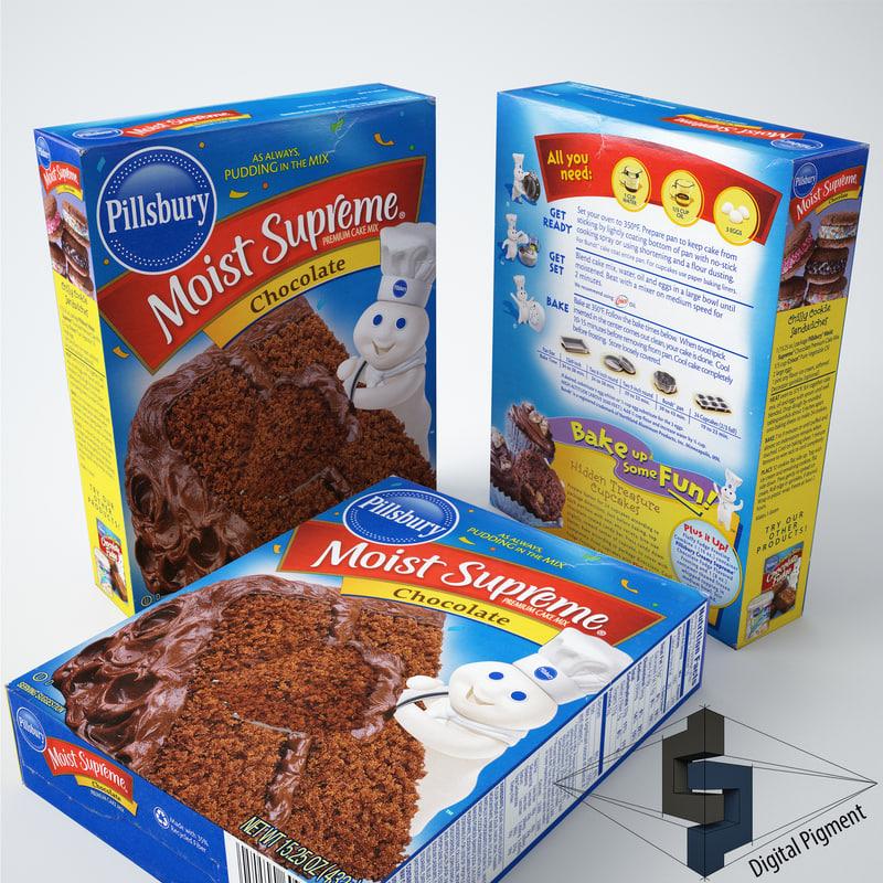 3d model pillsbury chocolate cake mix