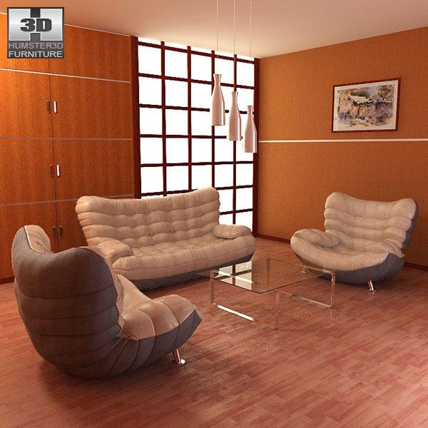 living room 05 set 3d 3ds