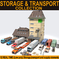 storage transport truck car 3d model