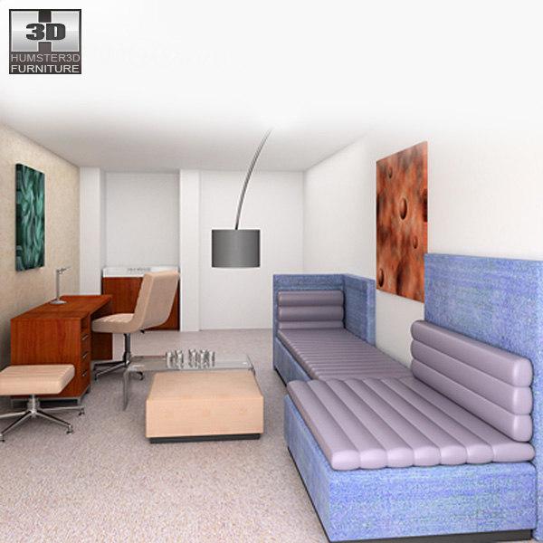 3d bedroom furniture 08 set