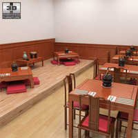3d model chinese interior cafe