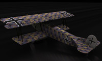 3d model fokker d vii world war
