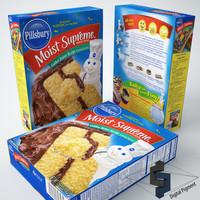 3d model pillsbury moist supreme golden