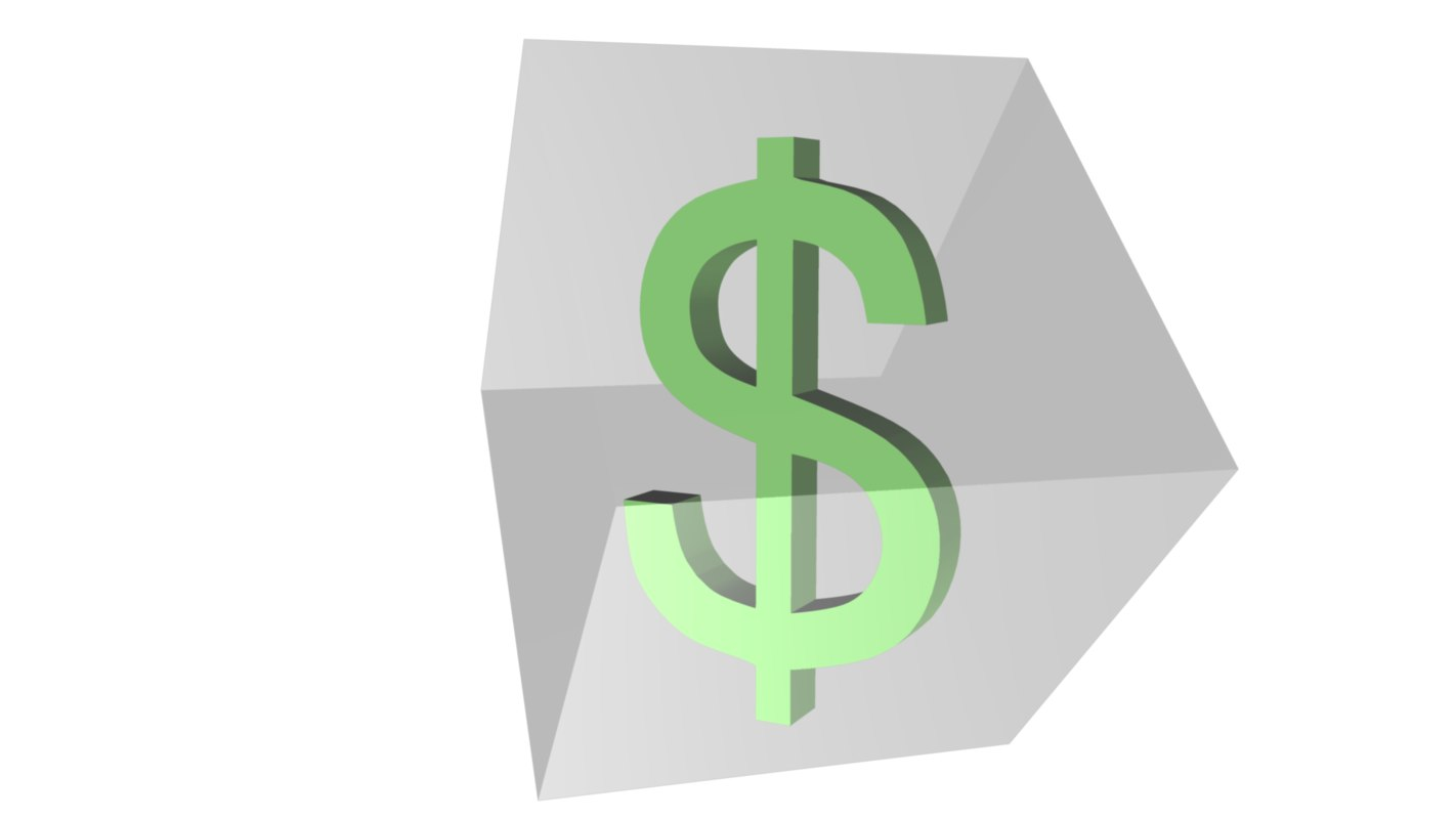 currency dollar symbol 3d model