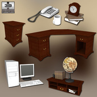 3d home workplace 3 set