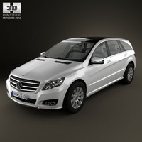 3d model mercedes-benz r class 2011