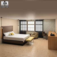 3d model bedroom furniture 09 set
