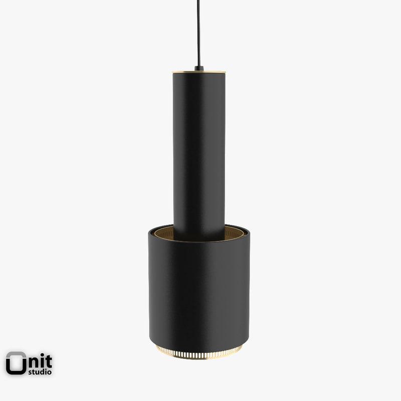 artek lamp a110 3d model