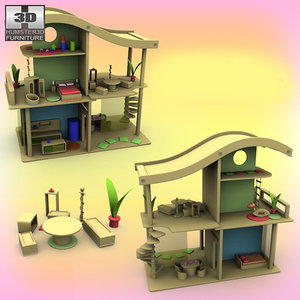 doll house set 02 3d model