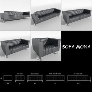 mona couches sofa armchair 3ds