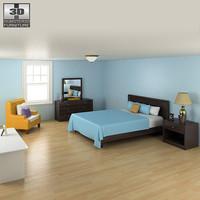 3d model bedroom furniture 10 set