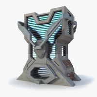 Sci Fi Building L Modern